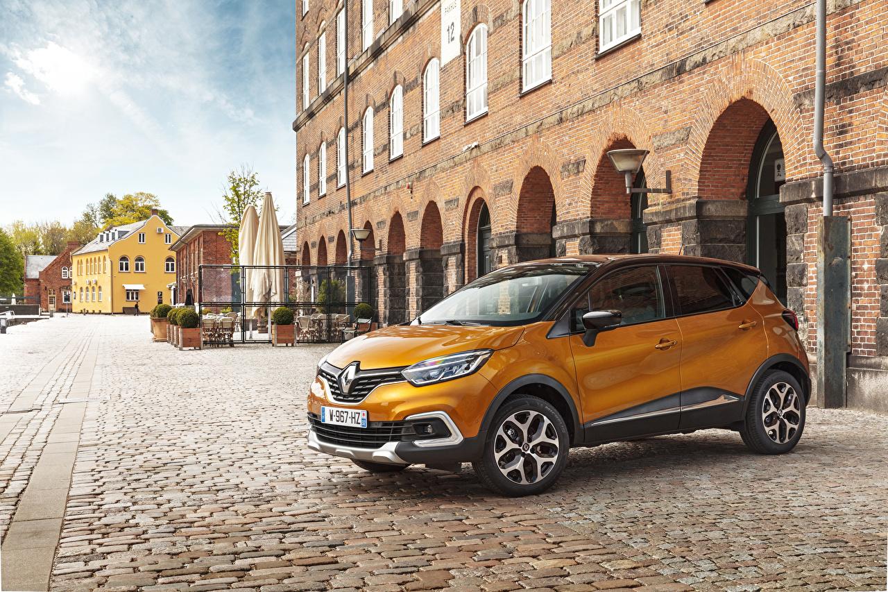 Картинка Renault 2017 Captur Worldwide желтых Металлик Автомобили Рено Желтый желтые желтая авто машина машины автомобиль