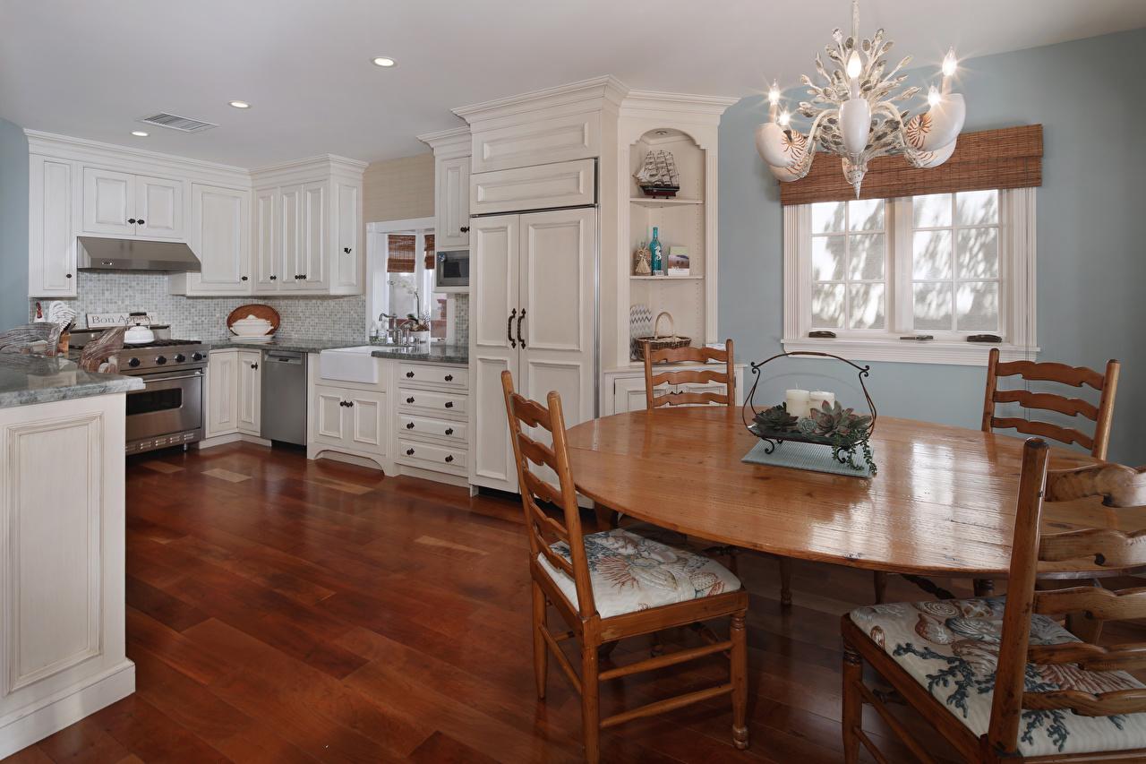 Фотографии кухни Интерьер стул столы Люстра дизайна Кухня Стол стола Стулья люстры Дизайн