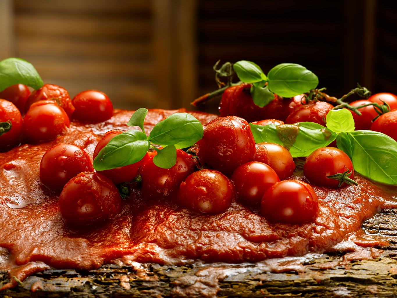 Картинки Листва Помидоры Кетчуп Продукты питания лист Листья Томаты кетчупа кетчупом Еда Пища