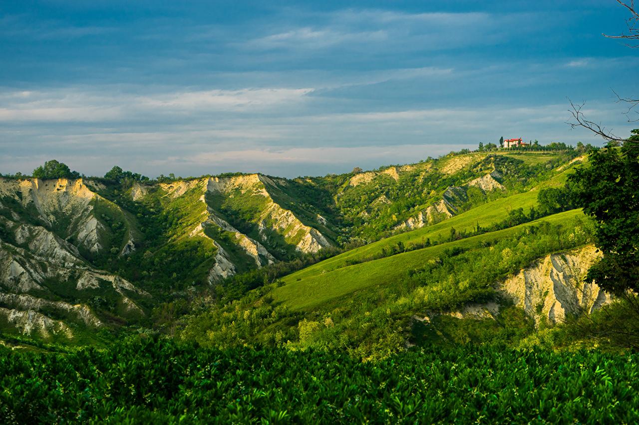Фотографии Италия Brisighella Природа Луга Холмы