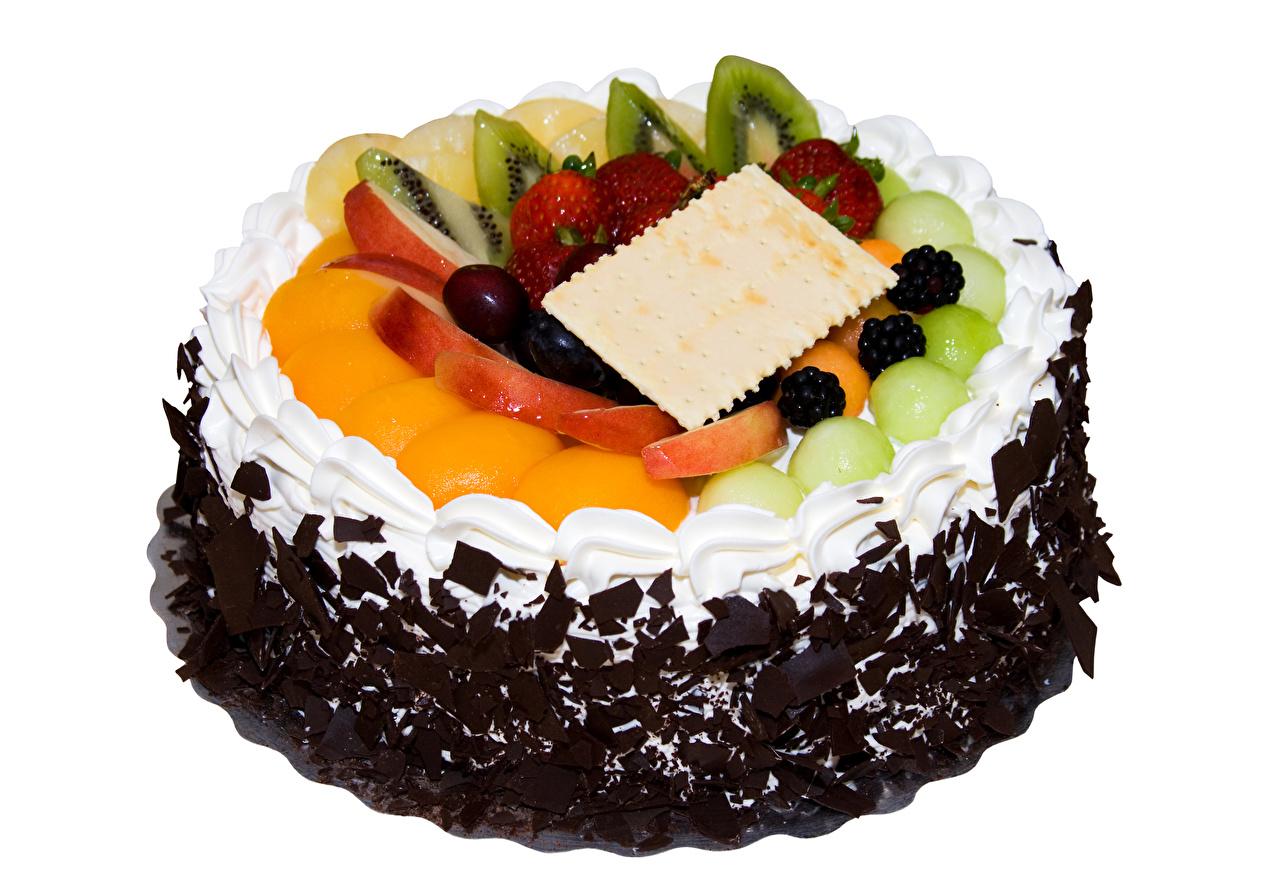 Фото Шоколад Торты Еда Фрукты Сладости Белый фон Дизайн Пища Продукты питания дизайна