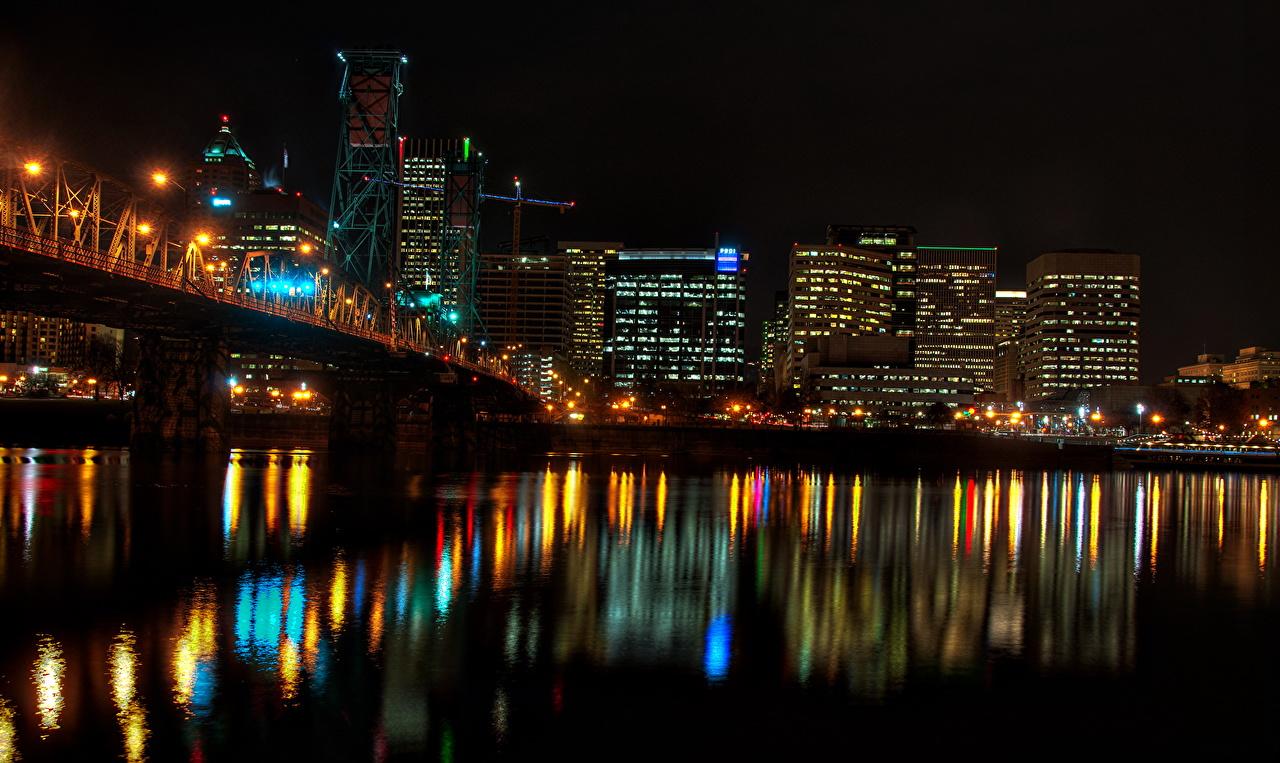 Обои ночь, Вода. Города foto 13