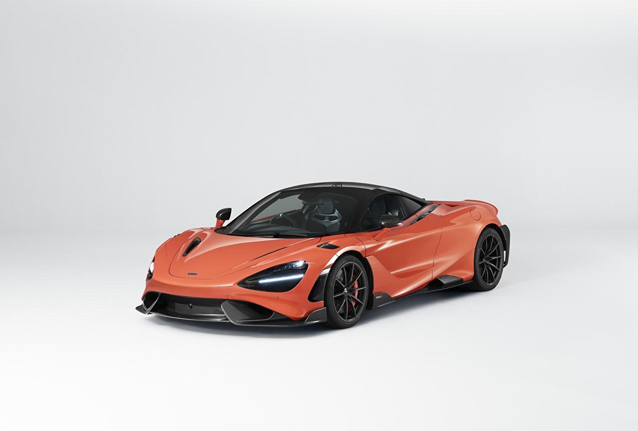Фото Макларен UK-spec, 2020, 765LT СУПЕРКАР авто Металлик Серый фон McLaren машина машины автомобиль Автомобили сером фоне