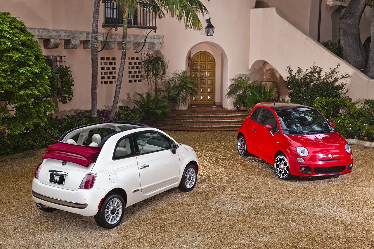 Фото Fiat 2007-19 500 вдвоем авто Металлик Фиат 2 два две Двое машина машины автомобиль Автомобили