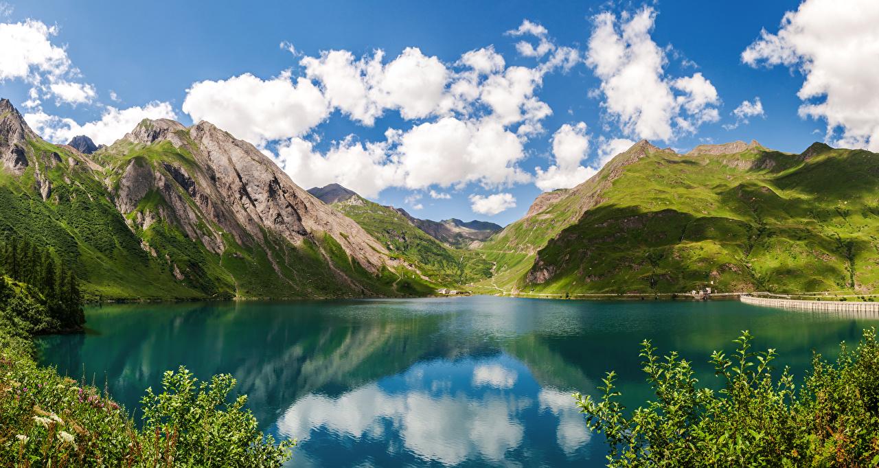 Фото Италия Lake Morasco, Piemonte Горы Природа Озеро гора