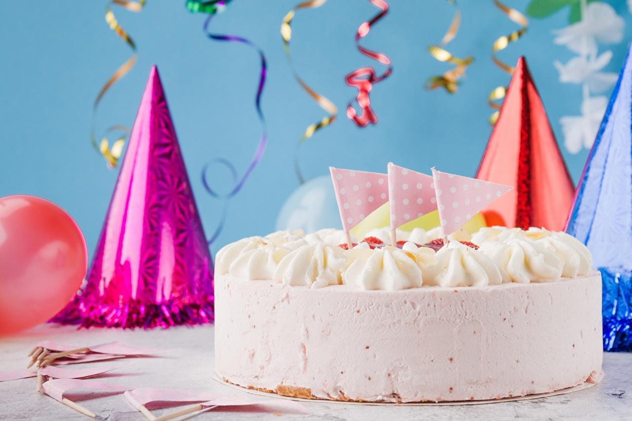Фотография День рождения Торты Продукты питания Еда Пища