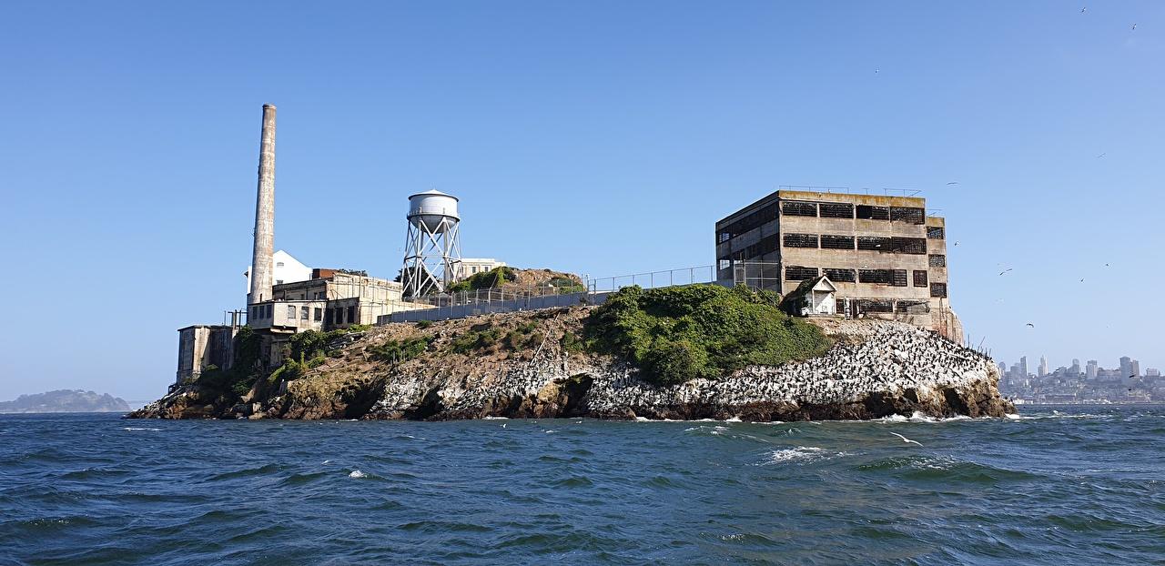 Фото Калифорния Сан-Франциско штаты Тюрьма Остров Города калифорнии США америка тюрьме город