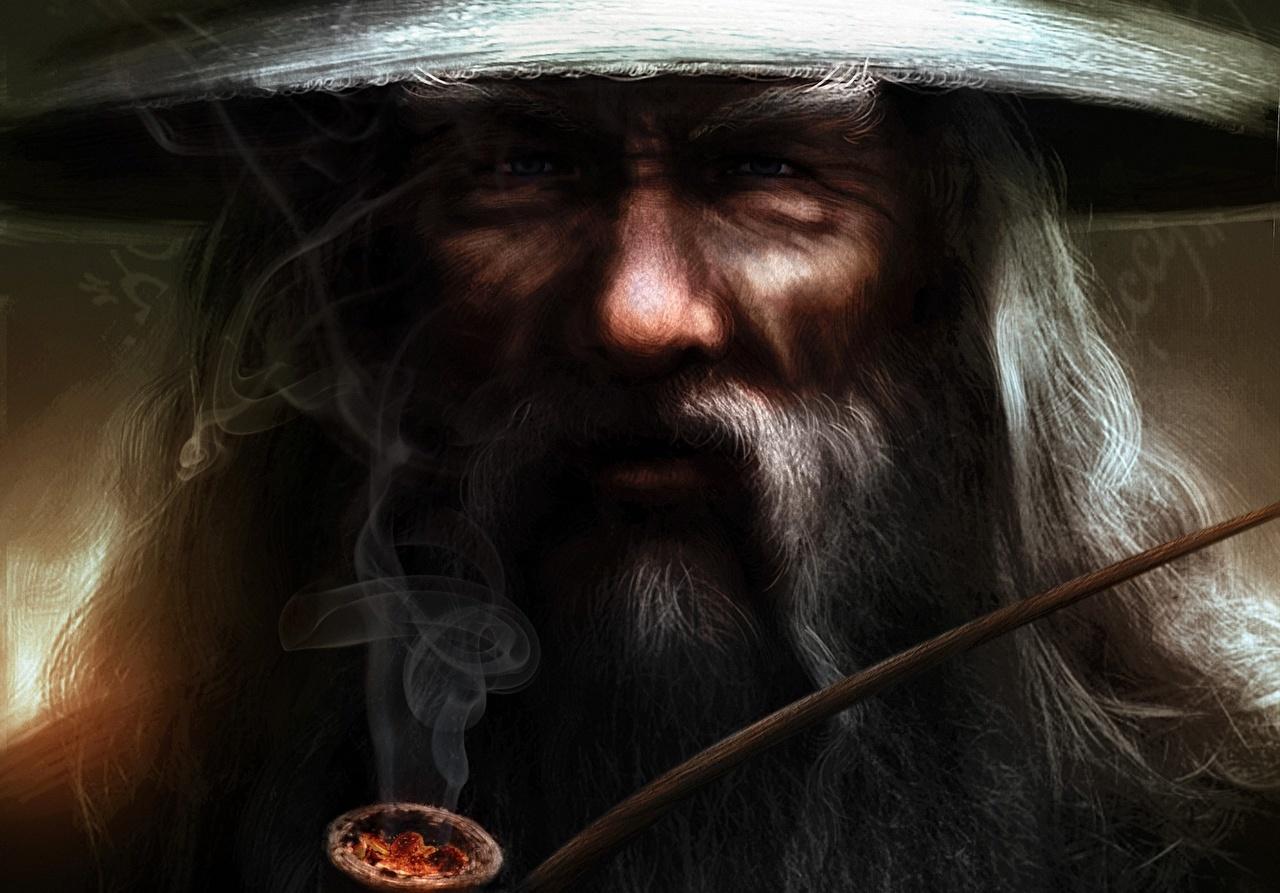 Фотография Властелин колец Gandalf Лицо Фэнтези Фильмы Дым лица Фантастика кино дымит