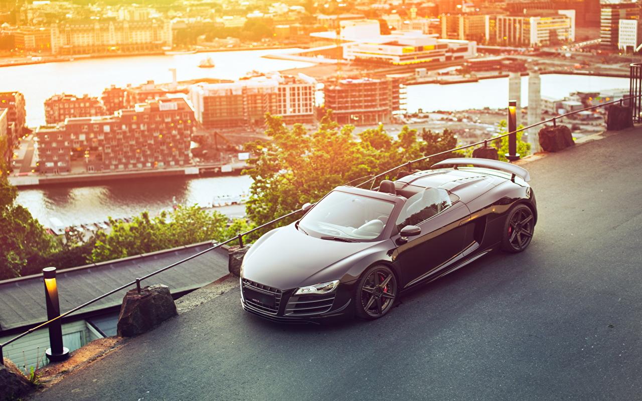 Фото Audi R8 GT Spyder Родстер автомобиль Ауди авто машина машины Автомобили