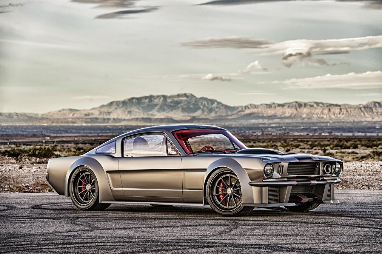 Фотографии Форд Mustang 1965 HDRI Сбоку машина Ford HDR авто машины Автомобили автомобиль