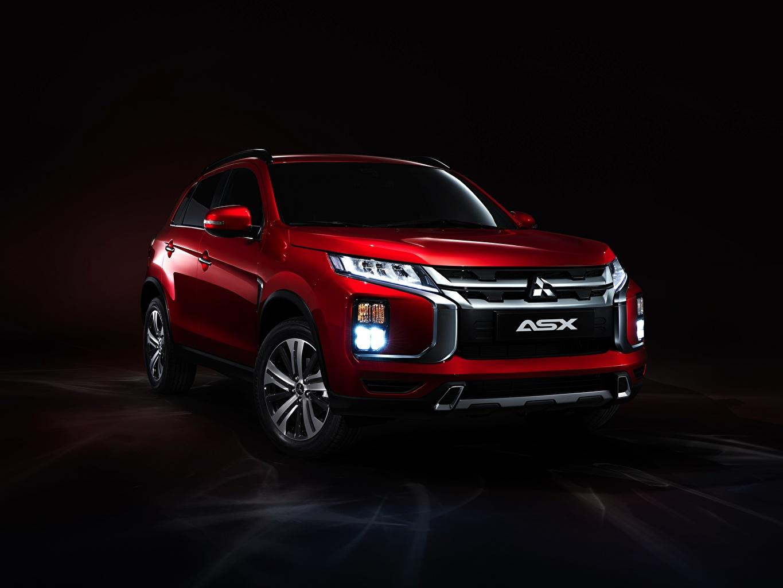 Обои для рабочего стола Мицубиси Кроссовер ASX, 2019 красные Фары Металлик Автомобили Mitsubishi CUV красных Красный красная фар авто машина машины автомобиль