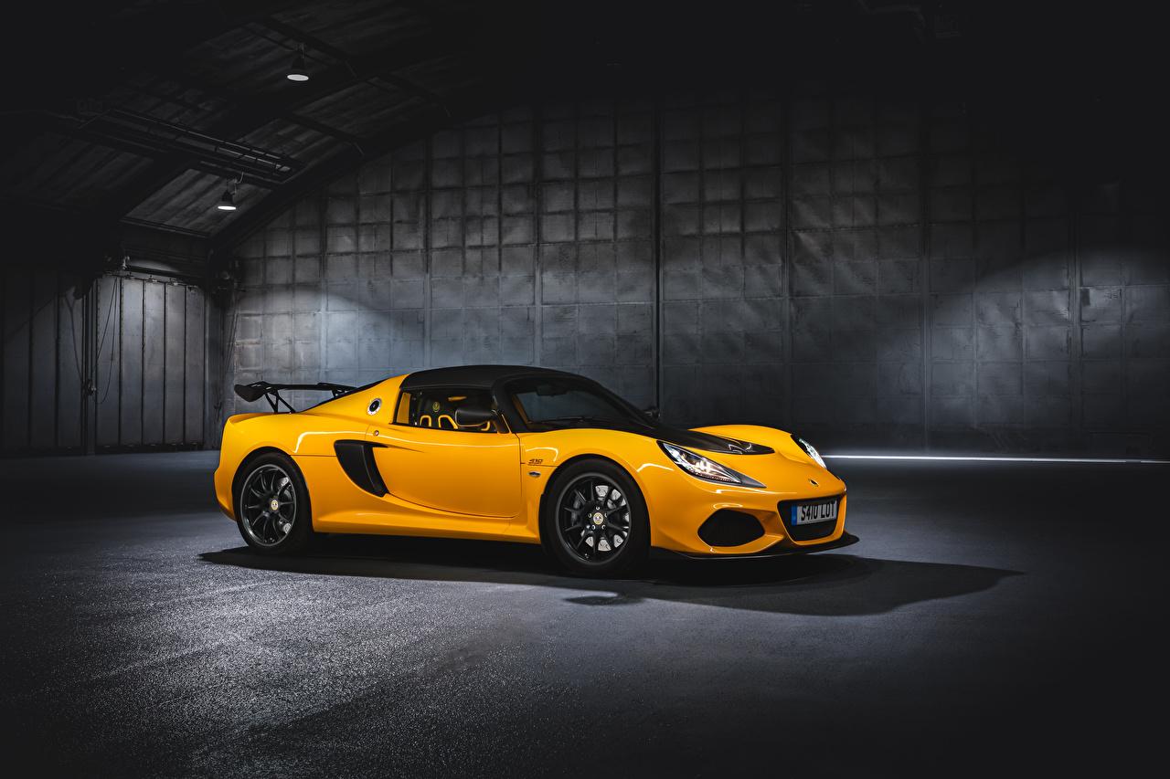 Фотография Lotus 2018-19 Exige Sport 410 Worldwide Желтый Металлик Автомобили Лотус желтых желтые желтая авто машина машины автомобиль
