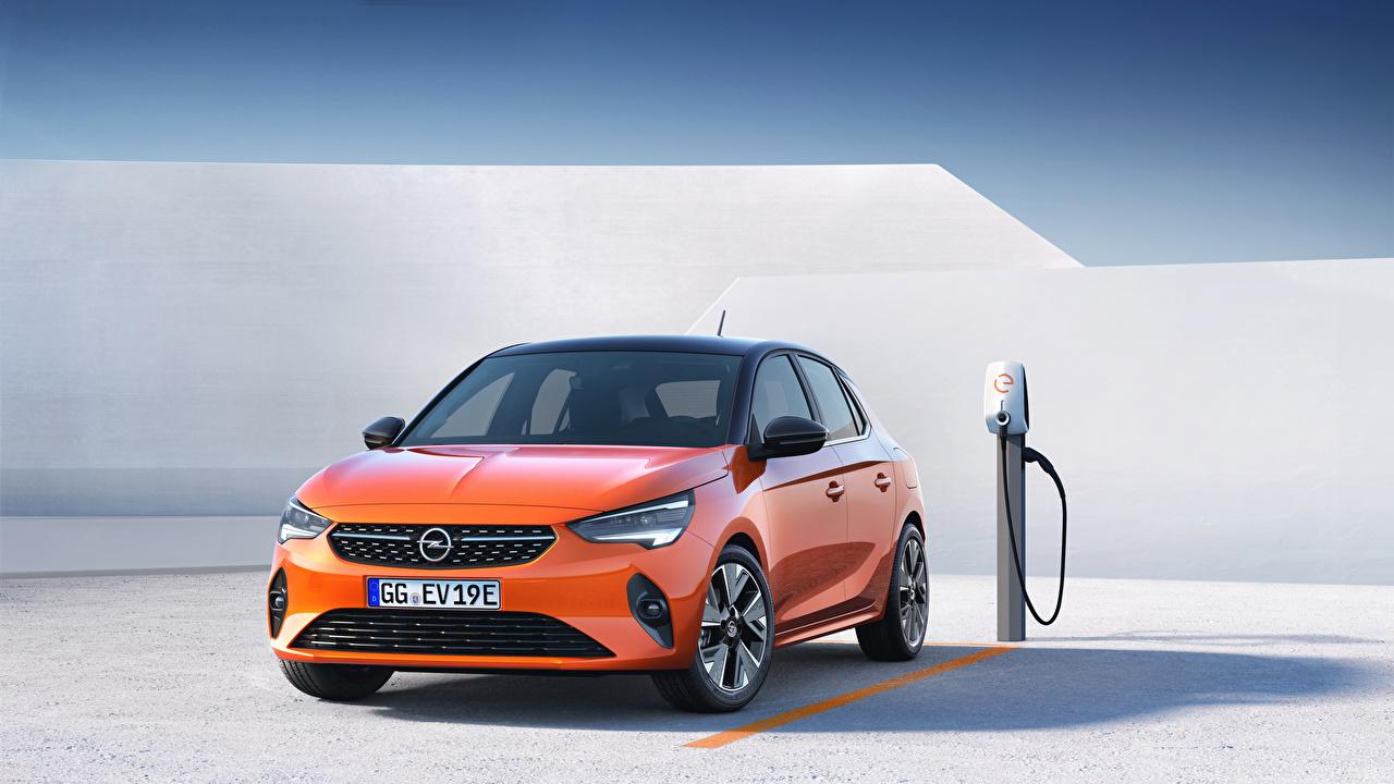 Картинки Opel Corsa E, 2019, FWD оранжевые машины Металлик Опель оранжевых Оранжевый оранжевая авто машина автомобиль Автомобили