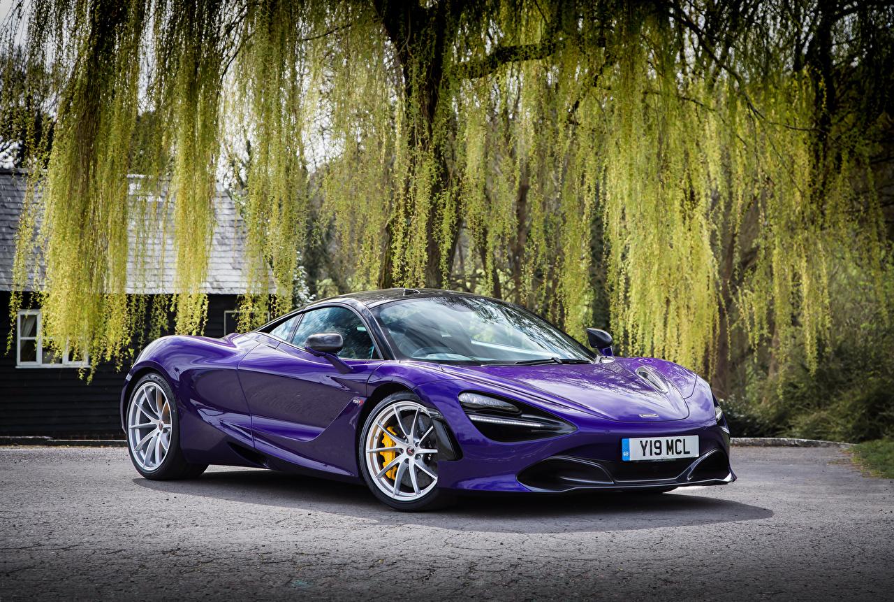 Картинка McLaren 2017-18 720S Coupe Купе Фиолетовый Авто Металлик Макларен Машины Автомобили