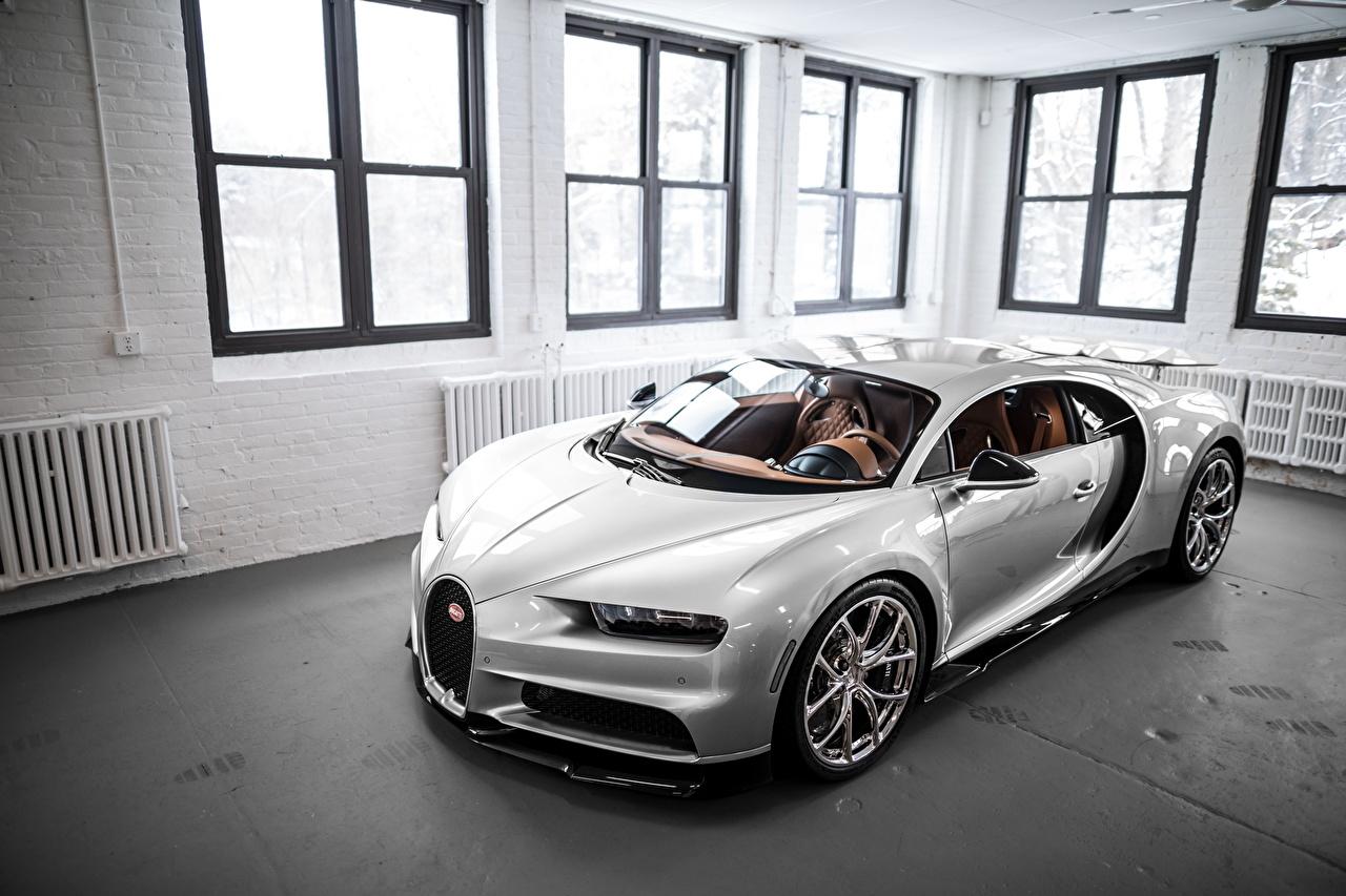 Картинка BUGATTI VAG, Sight Chiron 16/4 белые серебряный Автомобили белая Белый белых серебряная Серебристый серебристая авто машины машина автомобиль
