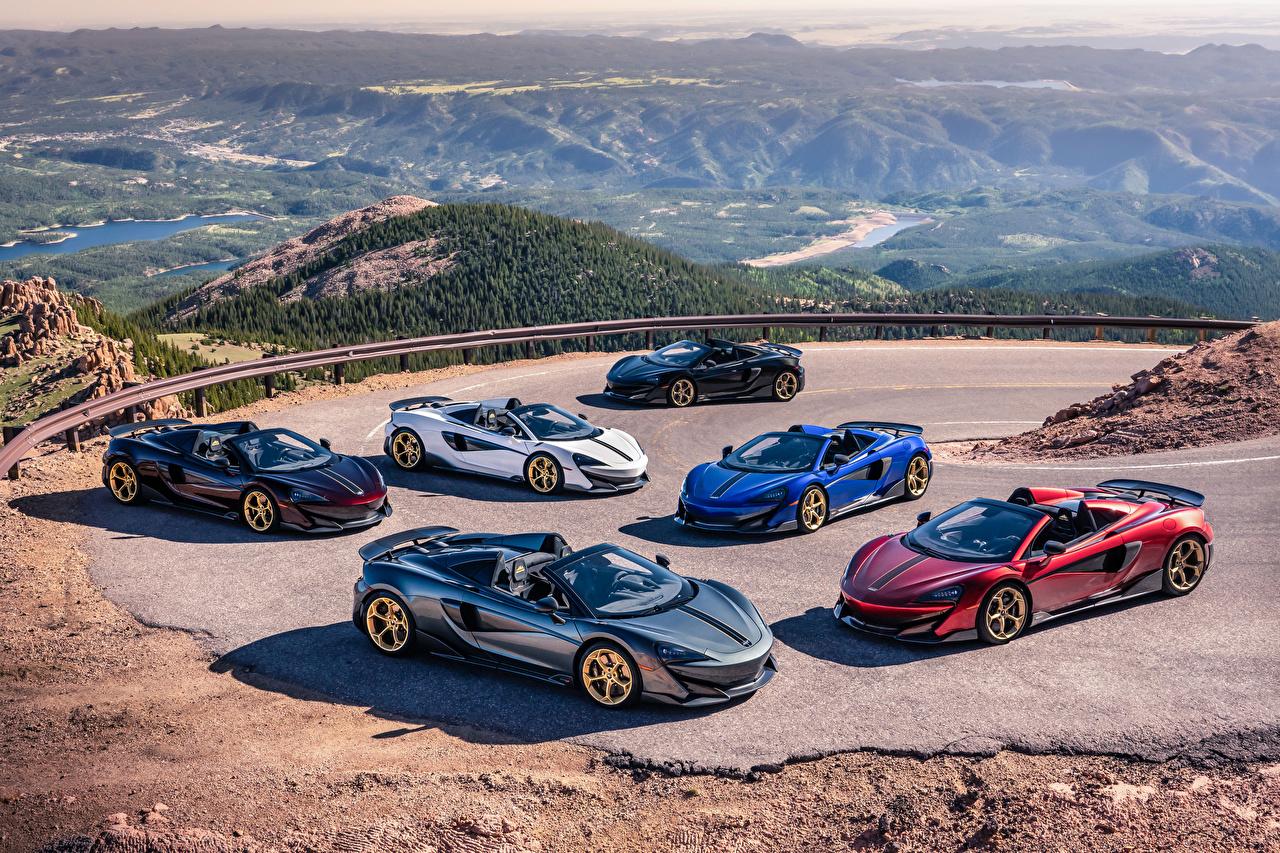 Фотография McLaren 2019 MSO 600LT Spider Pikes Peak Collection Родстер автомобиль Много Макларен авто машина машины Автомобили