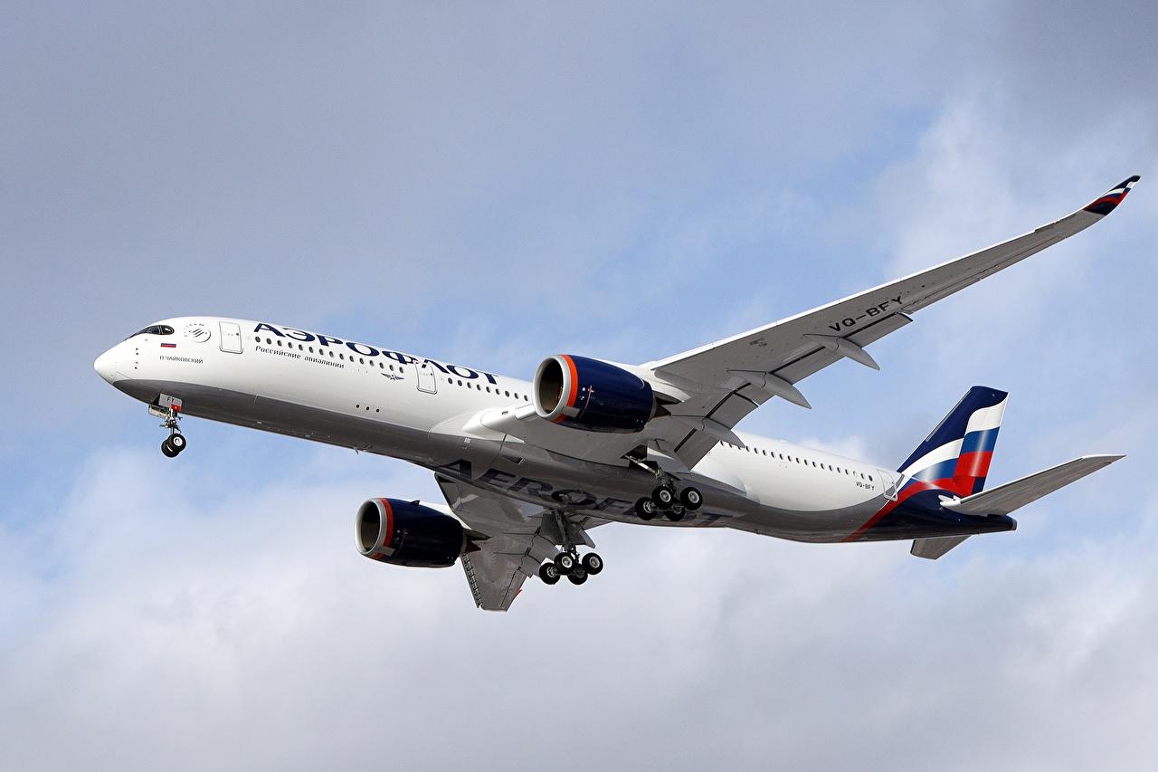 Фото Airbus Самолеты Пассажирские Самолеты A350-900, Aeroflot Авиация Эйрбас