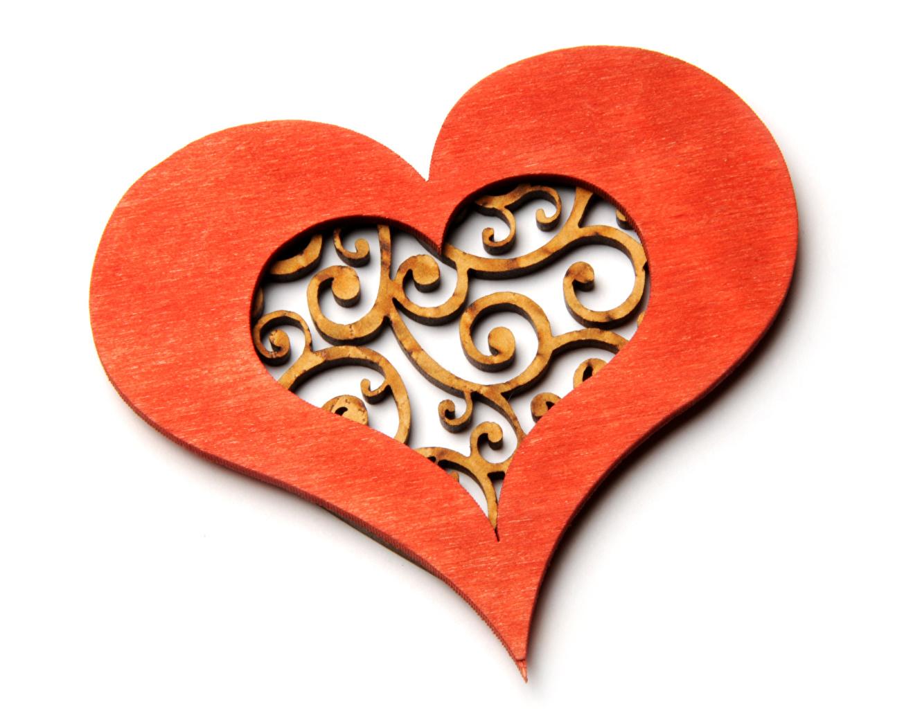 Фотография День святого Валентина Сердце Деревянный белом фоне Дизайн День всех влюблённых серце сердца сердечко из дерева Белый фон белым фоном дизайна