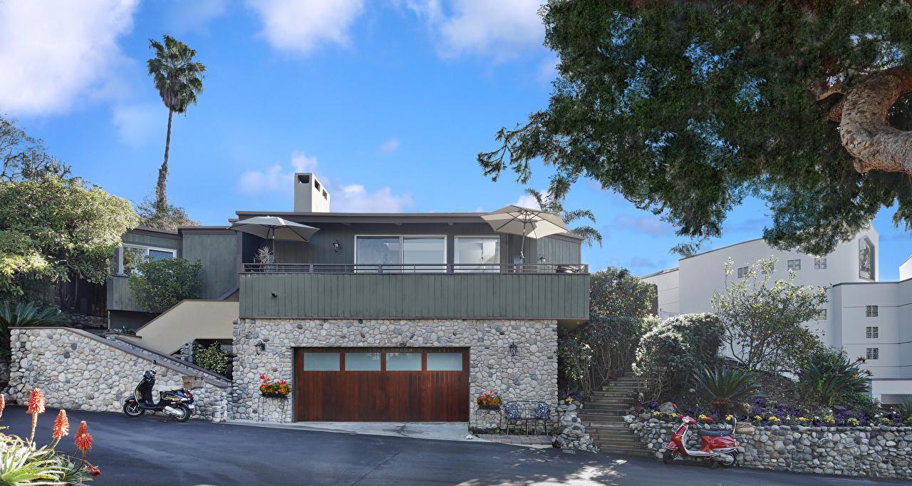 Картинки штаты Laguna Beach Гараж Особняк Города Здания США Дома
