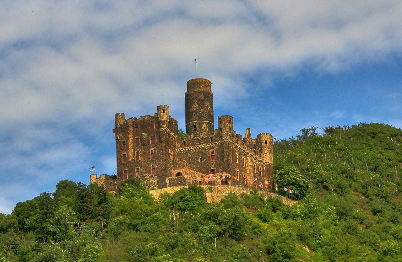 Фотография Германия Burg Maus замок город Замки Города