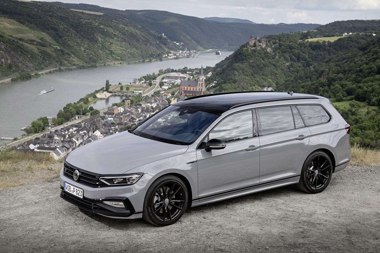 Обои для рабочего стола Volkswagen Универсал 2019 Passat Variant R-Line Edition Серый машина Металлик Фольксваген серые серая авто машины автомобиль Автомобили