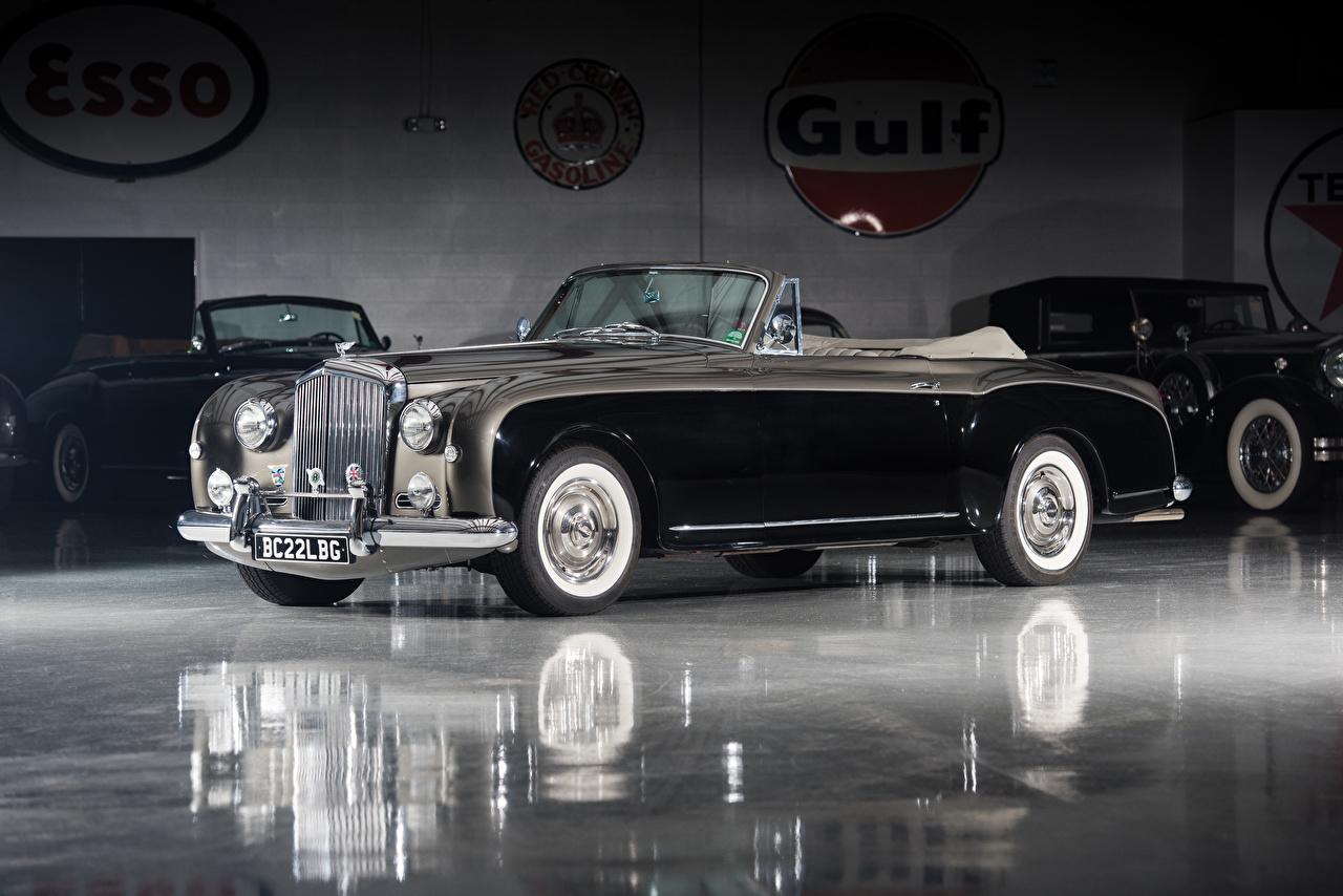 Фотография Бентли 1955-58 S1 Continental Drophead Coupe by Park Ward кабриолета Ретро Черный автомобиль Bentley Кабриолет черных черные черная Винтаж старинные авто машина машины Автомобили