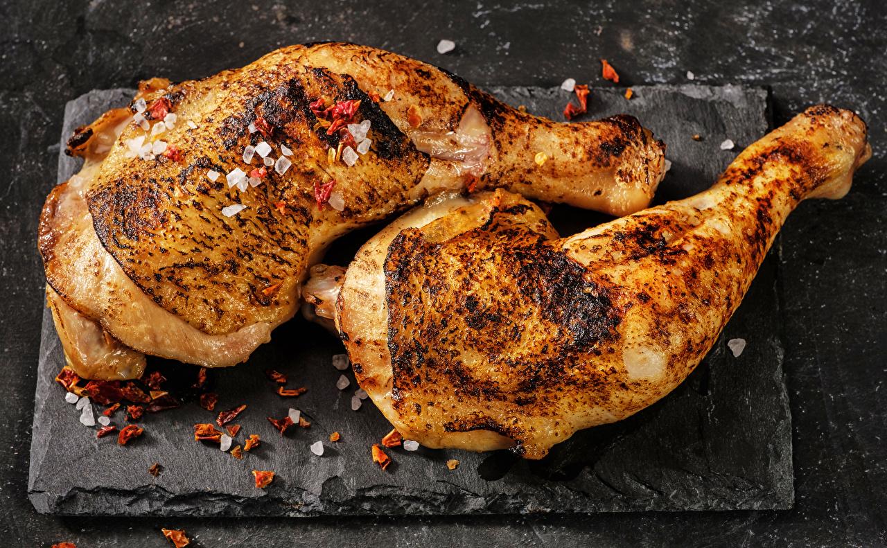 Фотография Курица запеченная Еда приправы Пища Специи пряности Продукты питания