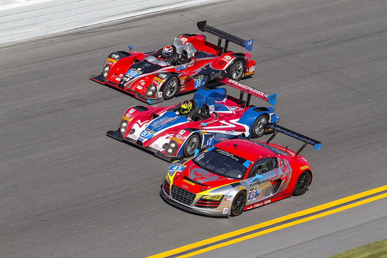 Фотография Ford Ауди Тюнинг три машина Audi Форд Стайлинг авто Трое 3 машины втроем автомобиль Автомобили