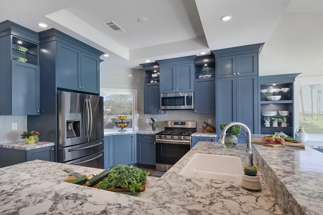 Фото Кухня Интерьер Кран водопроводный дизайна кухни Дизайн