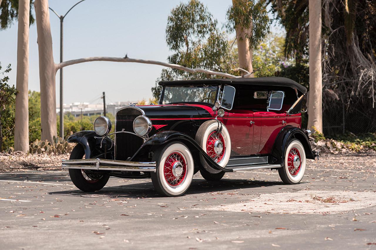 Картинка Крайслер 1930 Series 77 Phaeton винтаж машины Металлик Chrysler Ретро старинные авто машина автомобиль Автомобили
