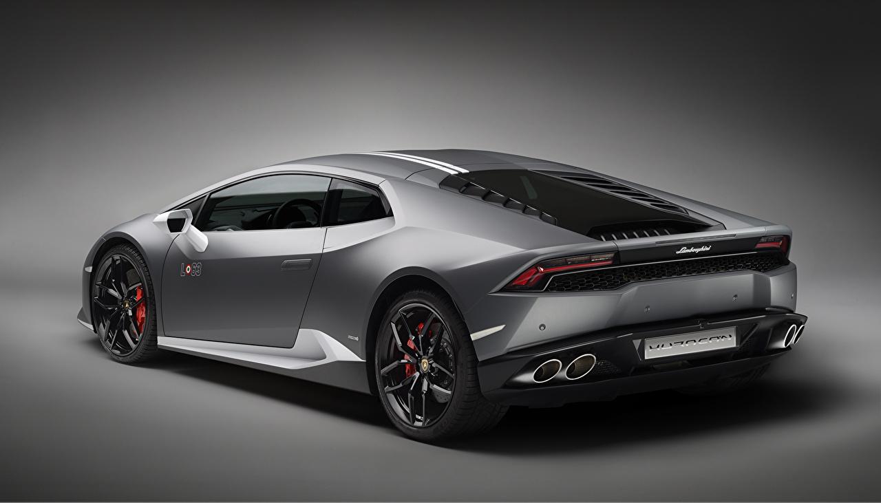 Обои для рабочего стола Lamborghini Huracan LP 610-4 Сзади машины Ламборгини авто машина вид сзади автомобиль Автомобили