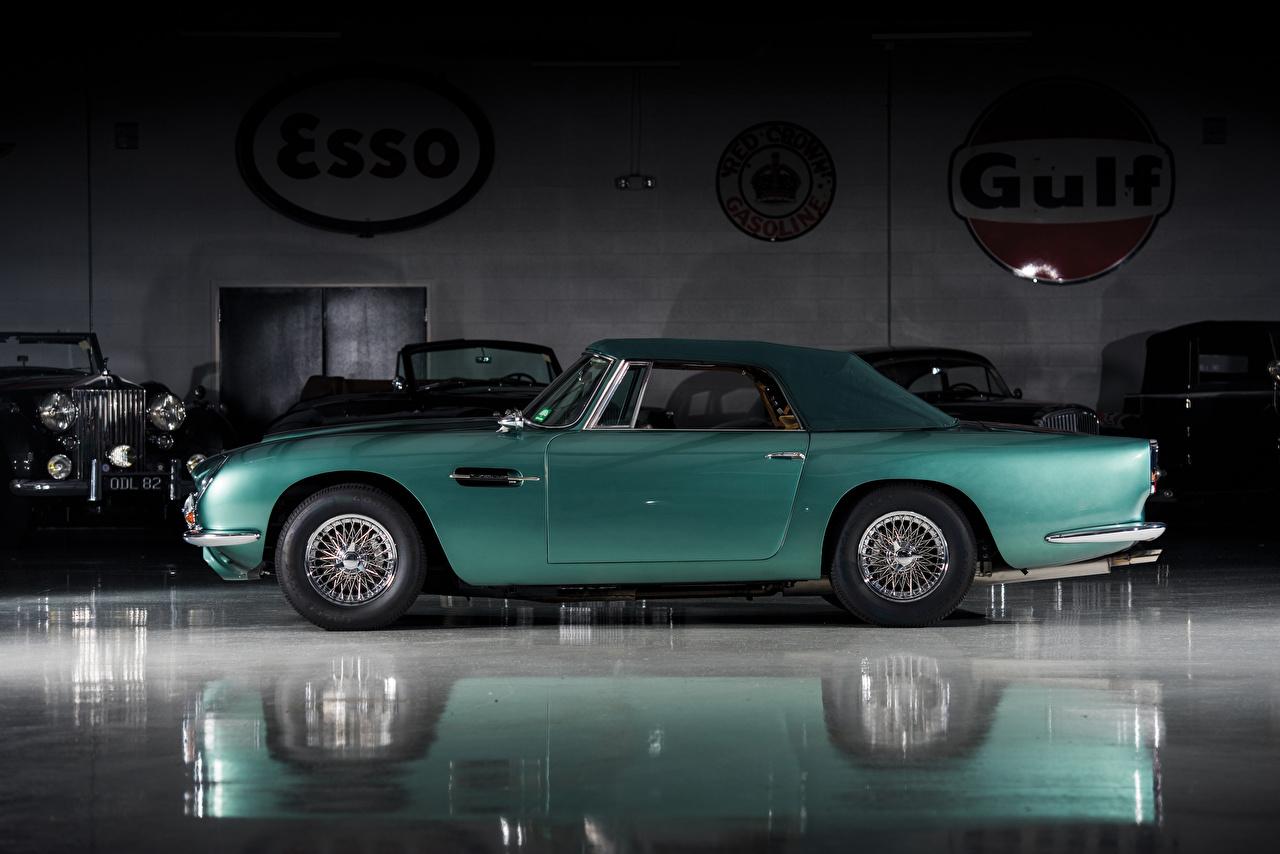 Картинки Астон мартин 1965-66 Volante LHD Ретро Сбоку Автомобили Aston Martin Винтаж старинные Авто Машины
