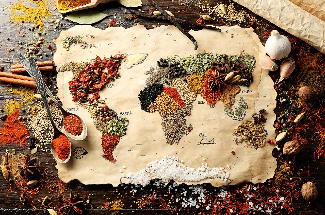 Фотография Специи Продукты питания Много География Еда Пища приправы пряности