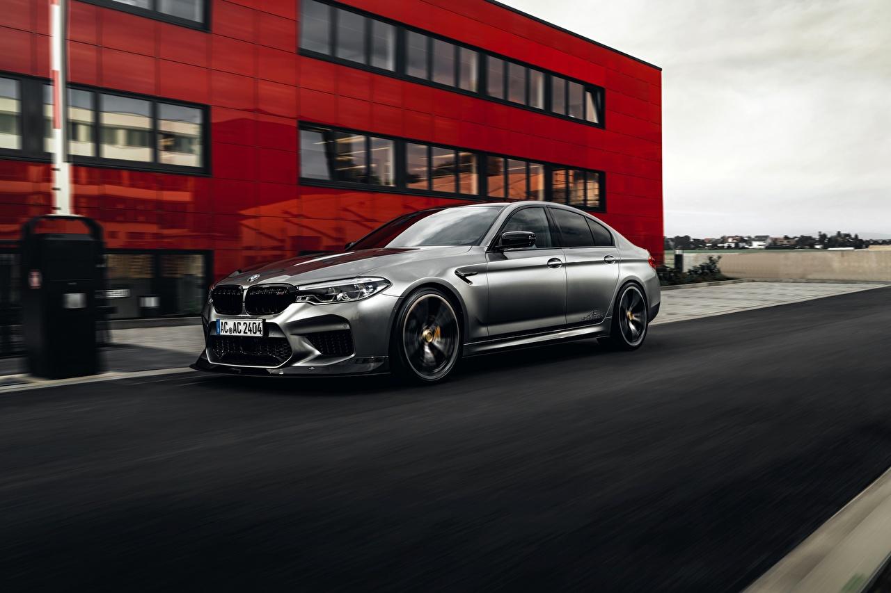 Фотографии BMW M5 F90 2019 ACS5 Sport серебряный машина БМВ серебряная серебристая Серебристый авто машины автомобиль Автомобили