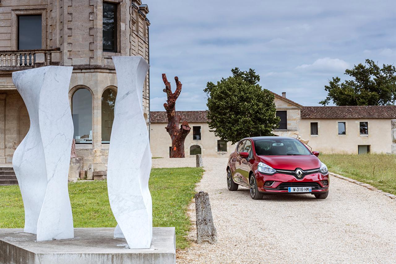 Фотография Рено 2016 Clio красная Металлик Автомобили Renault красных красные Красный Авто Машины
