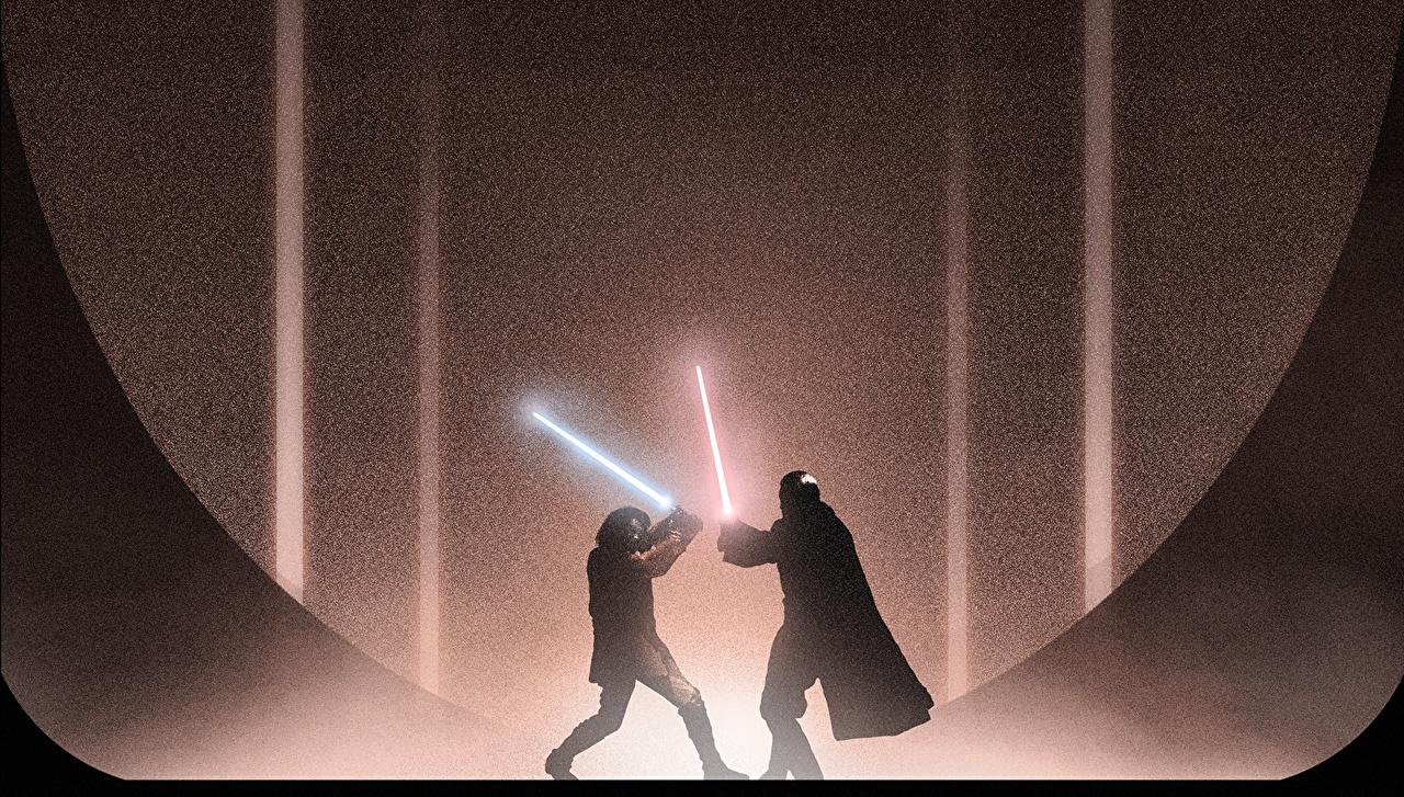 Фото кино Звездные войны Звездные войны Эпизод 2 - Атака клонов Световой меч jedi lightsaber Sith Lord Count Dooku Anakin Skywalker меча Джедаи сражение Фильмы меч Мечи с мечом Драка дерется дерутся