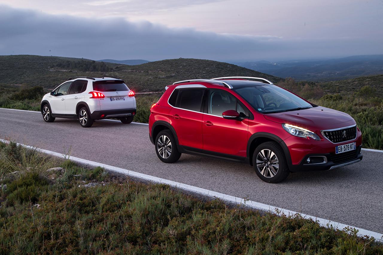 Фотографии Peugeot 2016 2008 Двое Автомобили Пежо 2 два две вдвоем авто машины машина автомобиль
