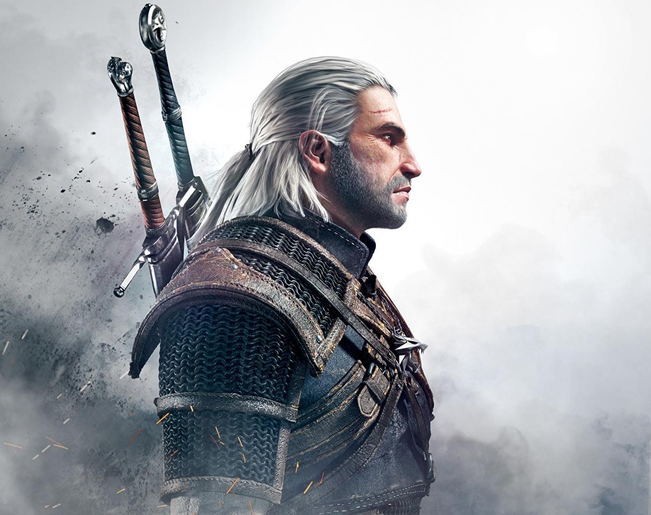Картинки Ведьмак 3: Дикая Охота Геральт из Ривии воины Мужчины Фантастика Игры The Witcher 3: Wild Hunt воин Воители мужчина Фэнтези компьютерная игра