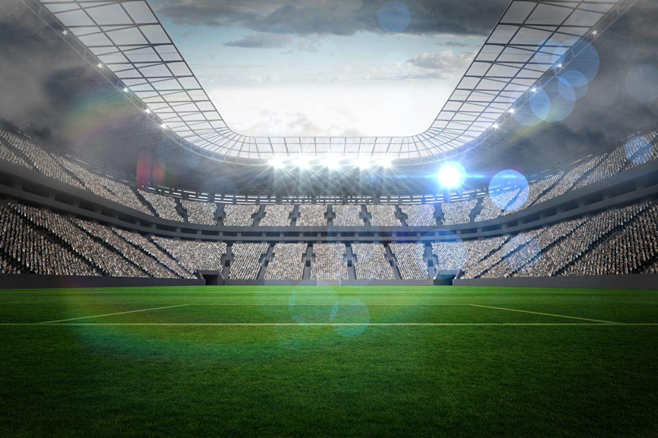 Обои для рабочего стола Футбол спортивная Стадион Газон Спорт спортивный спортивные газоне