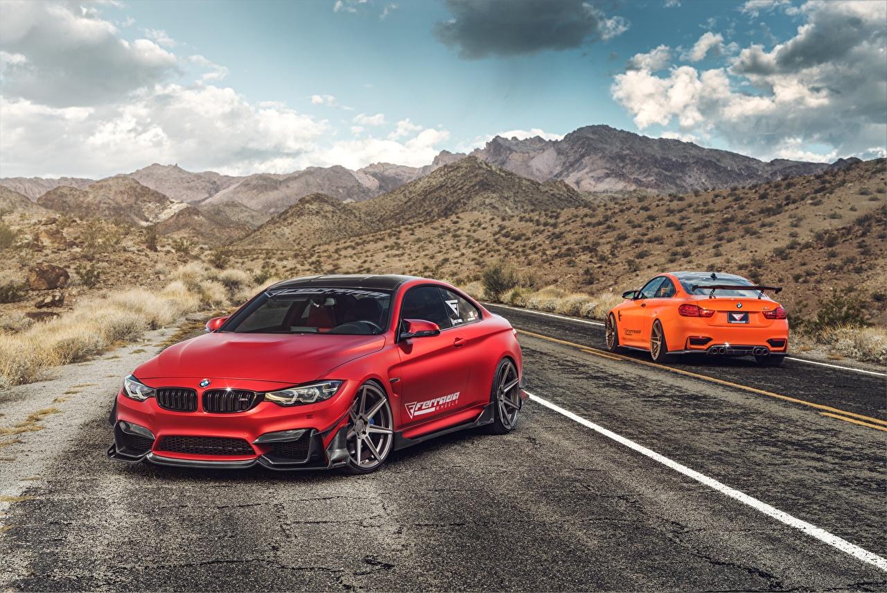 Фото BMW M4 Красный авто БМВ красных красные красная машина машины автомобиль Автомобили