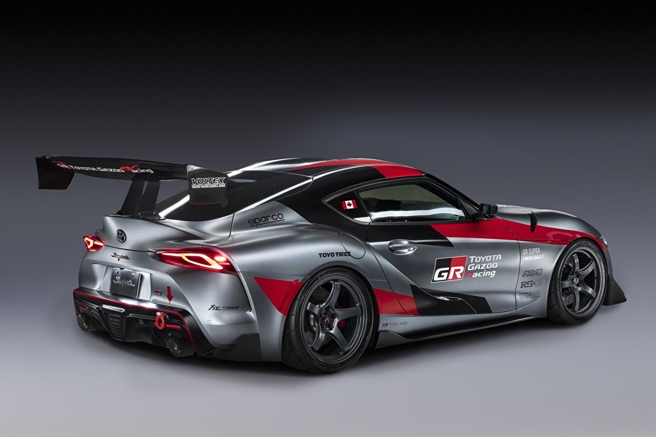 Фотография Тойота GR Supra Track Concept, 2020 Купе серая машина Toyota Серый серые авто машины Автомобили автомобиль