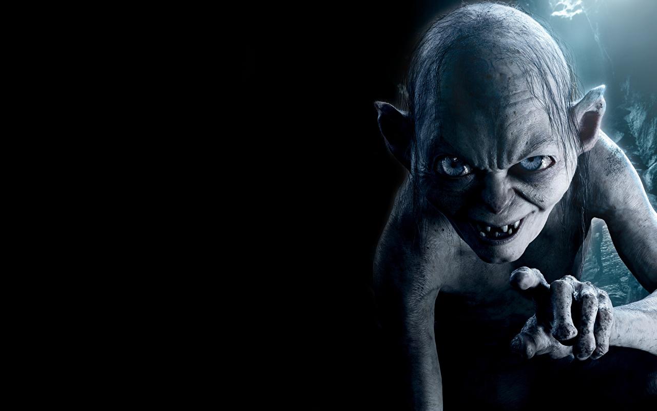 Фотография Властелин колец Gollum, Sméagol Фантастика Фильмы Взгляд Фэнтези кино смотрит смотрят