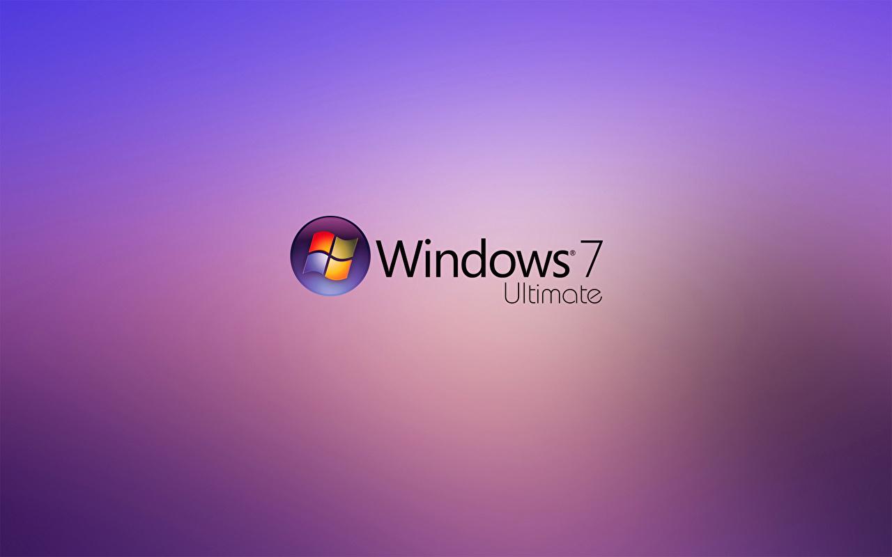 Фотографии Windows 7 Windows Логотип эмблема ultimate hi-tech Компьютеры