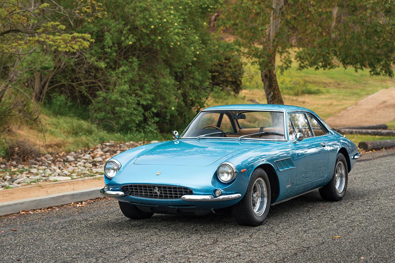 Фотографии автомобиль Ferrari 1966 500 Superfast Ретро Pininfarina голубые Металлик авто машина машины Автомобили Феррари Винтаж старинные голубых Голубой голубая