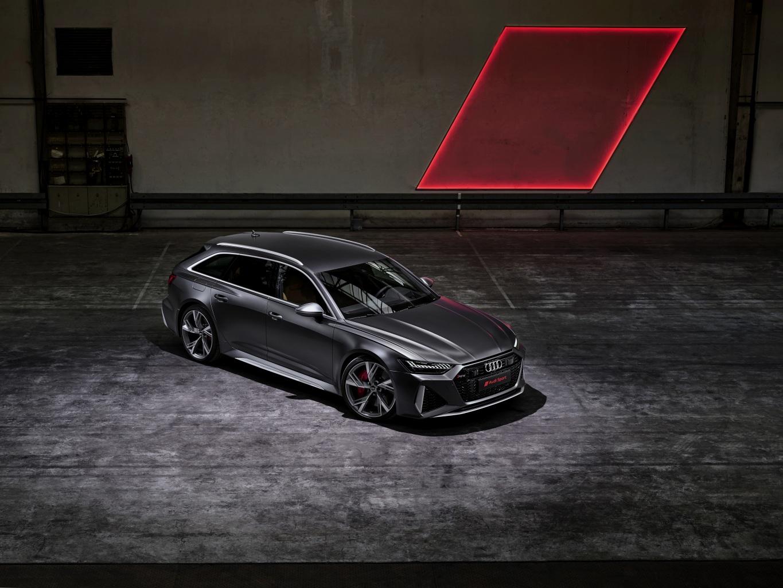 Картинка Audi Универсал 2020 2019 V8 Twin-Turbo RS6 Avant Серый машины Ауди серые серая авто машина автомобиль Автомобили