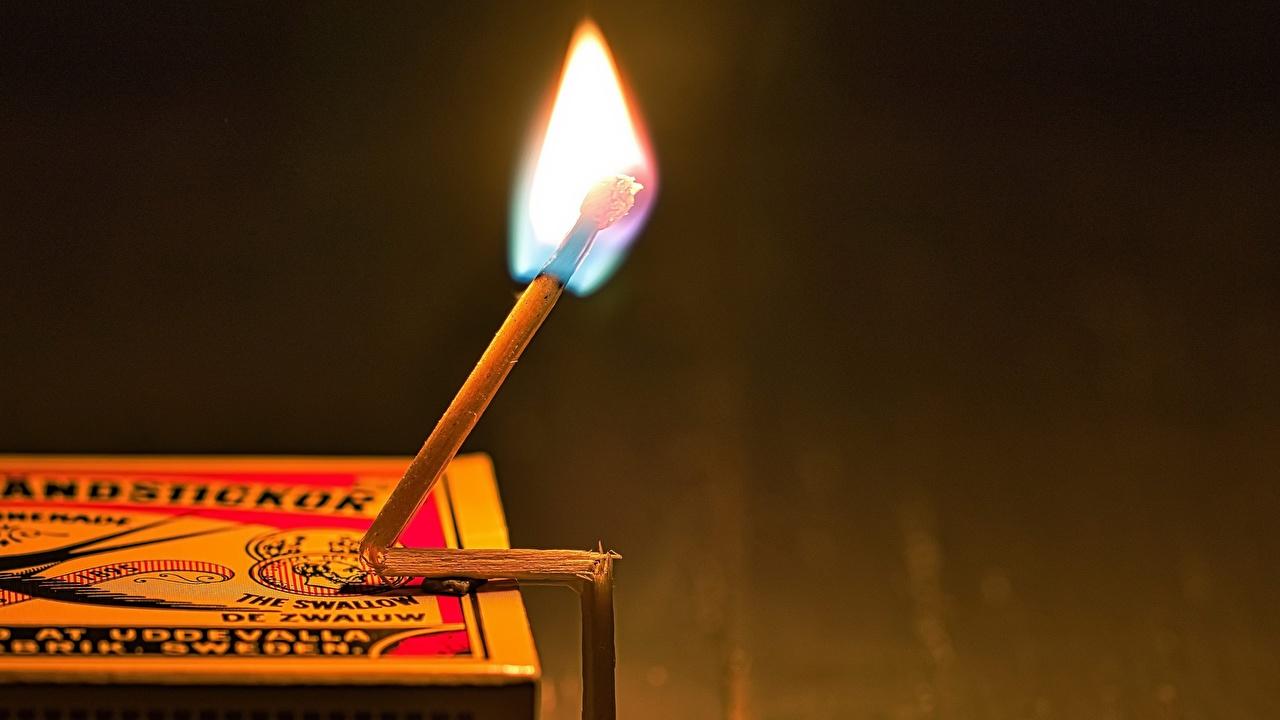 Картинка Спички пламя Огонь