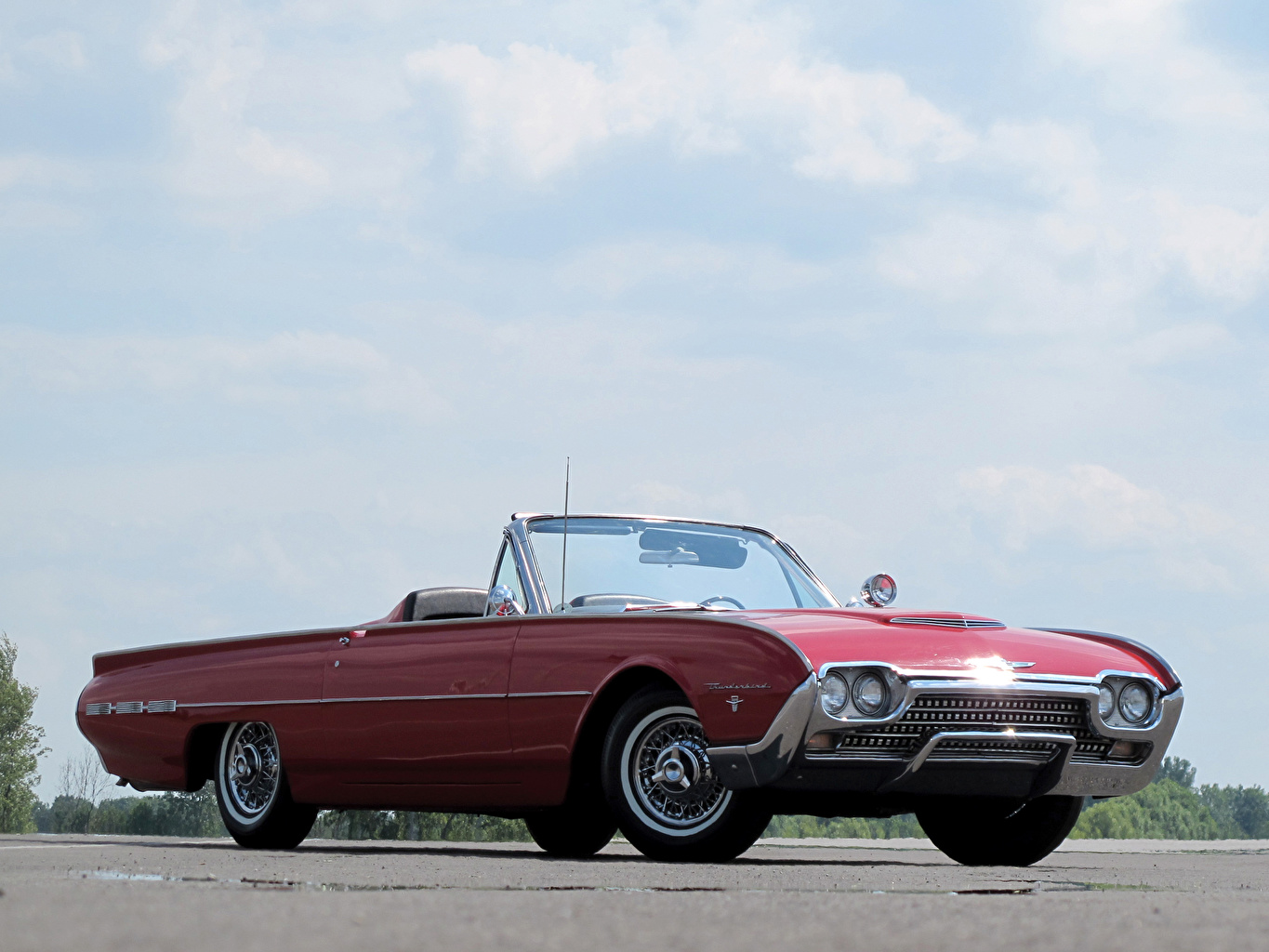 Фотографии Форд Thunderbird Sports Roadster 1962 Родстер Автомобили Ford Авто Машины