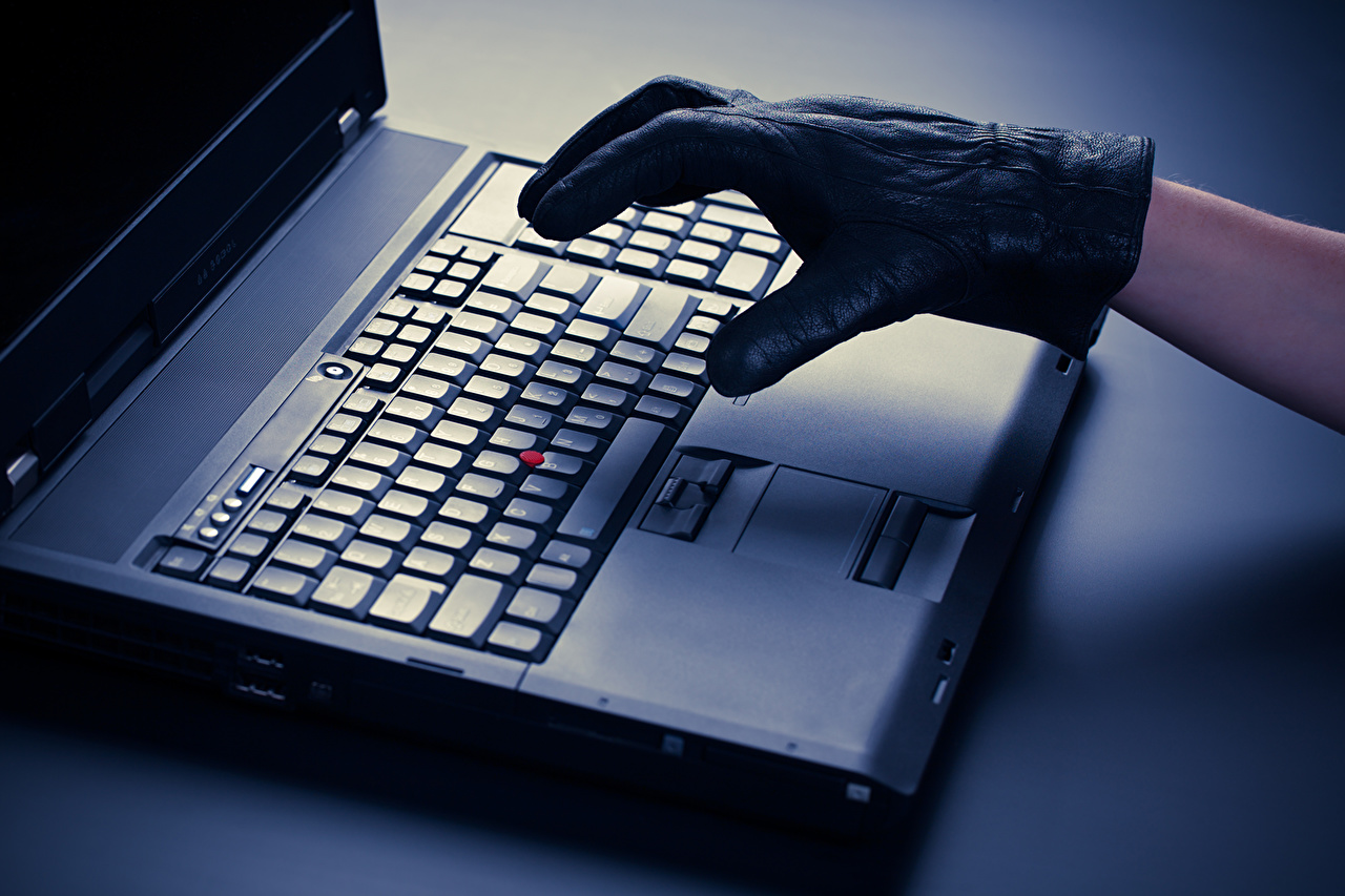 Картинки Ноутбуки theft illegal transfer of information hackers Руки ноутбук рука