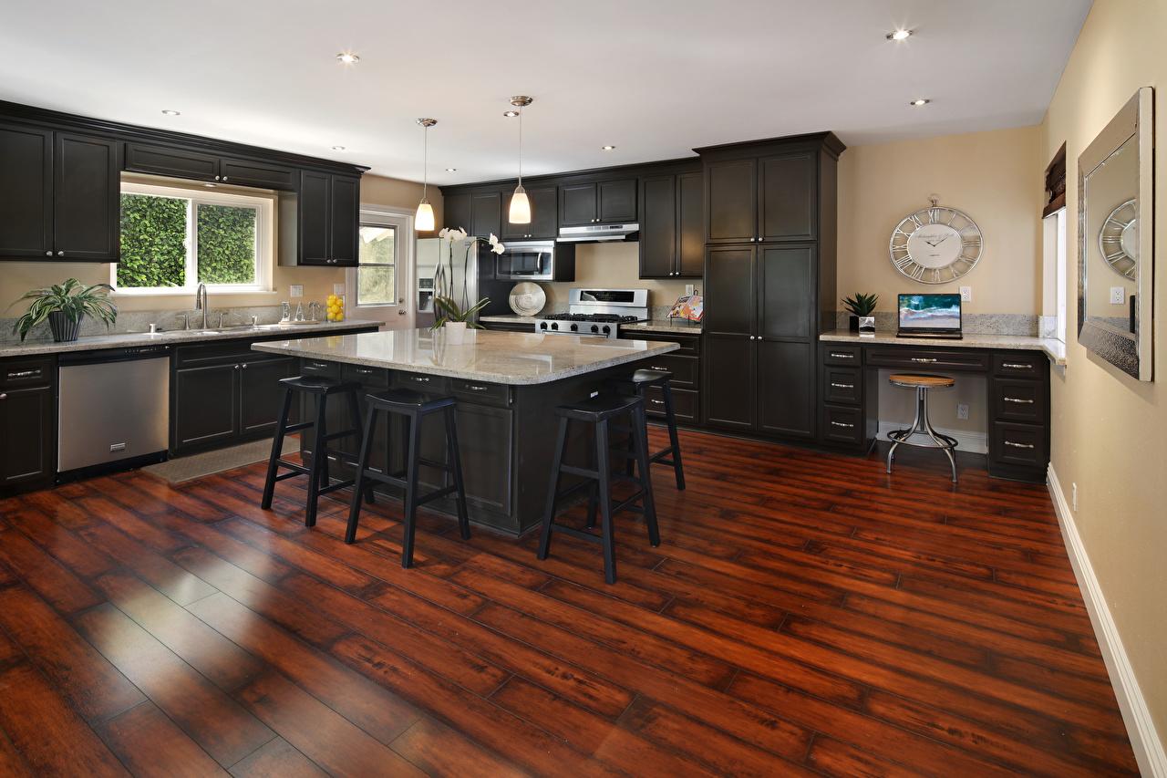 Картинки Кухня Интерьер стола Стулья Дизайн кухни Стол стул столы дизайна