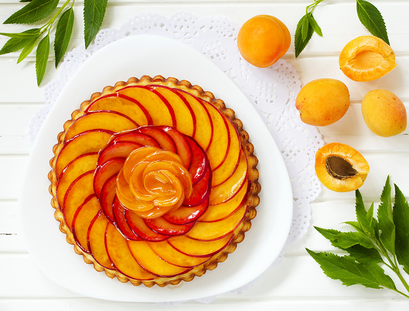 Обои пирог, выпечка, абрикосы. Еда foto 7